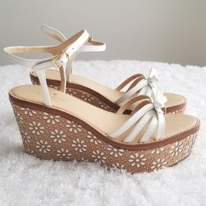 Kate Spade New York Womens Floral Wedge Sandals